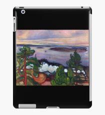 Train Smoke by Edvard Munch (Reproduction) iPad Case/Skin