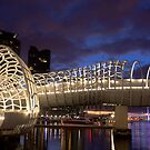 Webb Bridge Twilight Melbourne City Victoria Austalia by PhotoJoJo