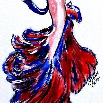 Art Doodle No. 32 Betta Fish by cjkell