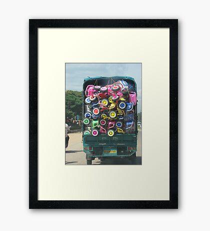 Colorful Load Framed Print