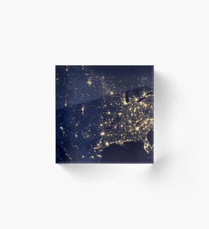 USA by Night Acrylic Block
