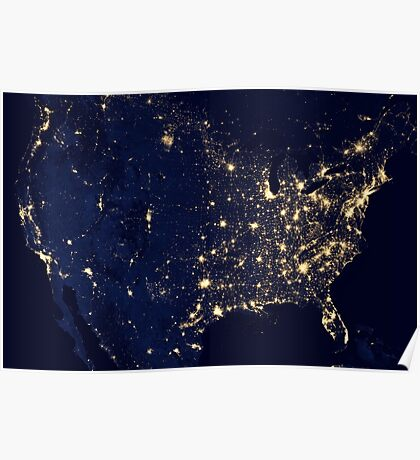 USA by Night Poster