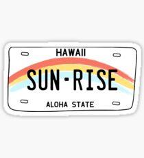 Hawaii Sun Rise Nummernschild Sticker
