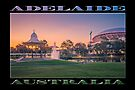 Adelaide Sunset (poster on black) by Ray Warren