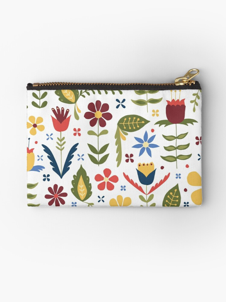 folk art floral pattern by Stacey Oldham