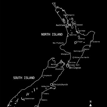 NEW ZEALAND MAP by Madjack66