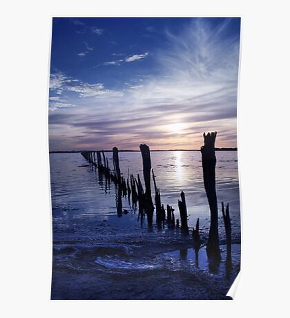 Fish Trap Fence Lines Poster