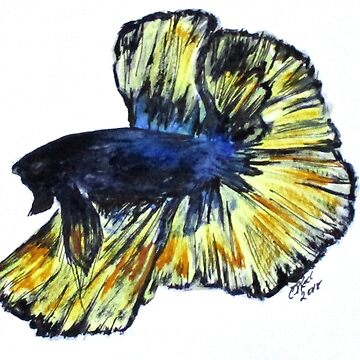 Art Doodle No. 34 Betta Fish by cjkell