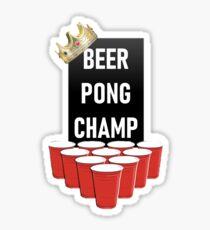 Beer Pong Champ Sticker