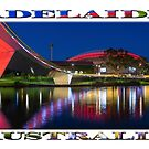 Adelaide Oval Elegance (poster on white) by Ray Warren