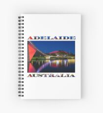 Adelaide Oval Elegance (poster on white) Spiral Notebook