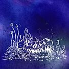 Dino skull – Blue by Jenji