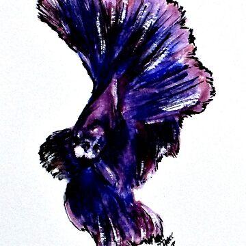 Art Doodle No. 35 Betta Fish by cjkell