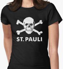 ST PAULI SKULL TOTENKOPF Women's Fitted T-Shirt