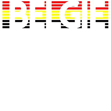 Belgian Flag Design 5 by BOBSMITHHHHH