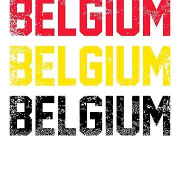 Belgian Flag Design 3 by BOBSMITHHHHH