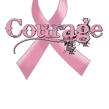 Courage Pink Ribbon by JayBakkerArt
