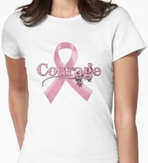 Courage Pink Ribbon Women's Fitted T-Shirt