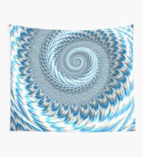 Sky Blue Abstract Wall Tapestry