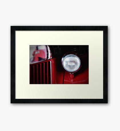 Fire Engine Red Framed Print