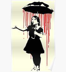 Rain Girl - Banksy, Umbrella Raining Streetart Street Art, Grafitti, Artwork, Design For Men, Women, Kids Poster