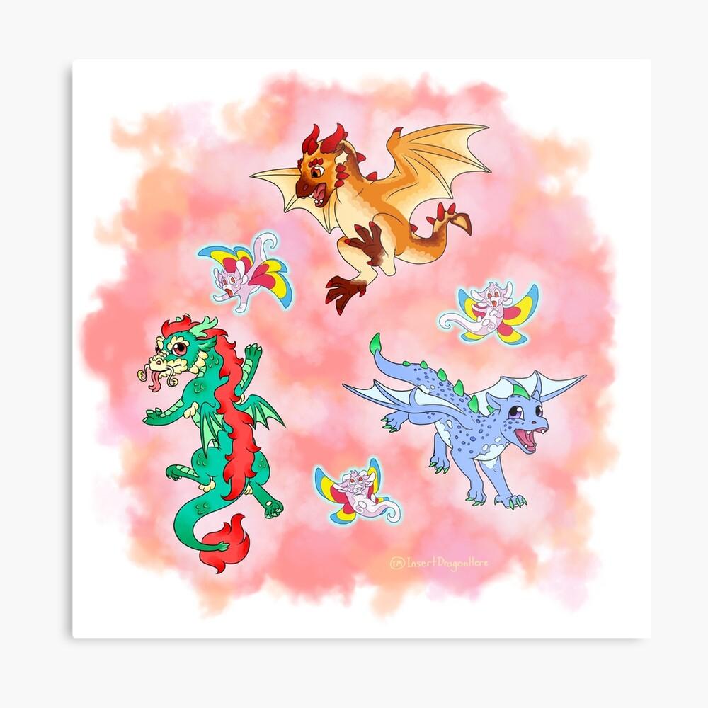 Dragons Metal Print