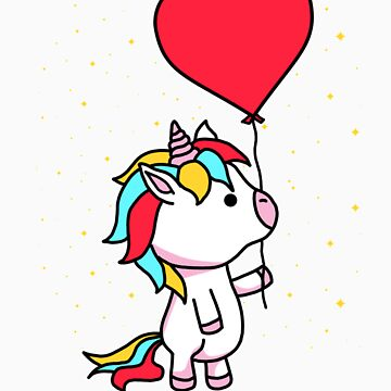 Unicorn with balloon gift by LikeAPig