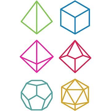 Dungeons and Dragons Neon Dice by PaulyH