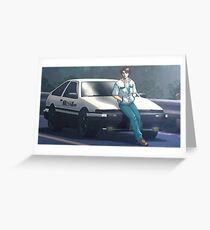 Initial D  Greeting Card
