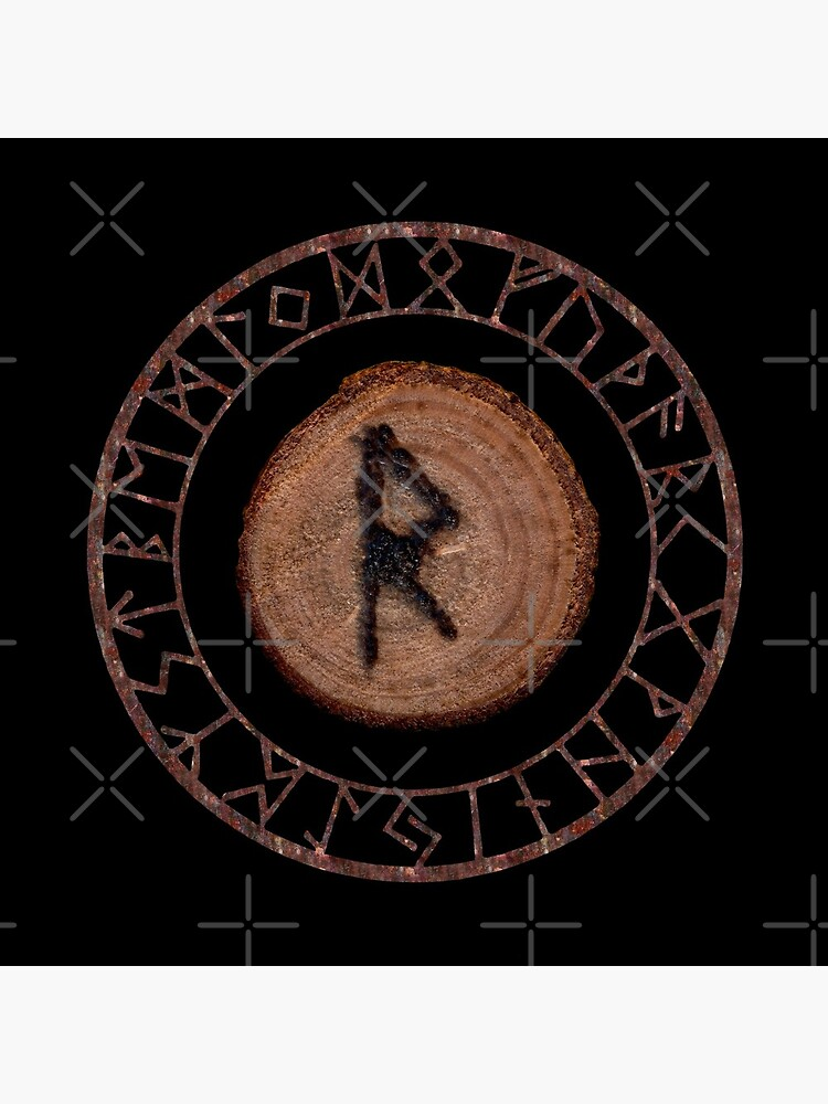 Raidho Elder Futhark Rune Travel, journey, vacation, relocation, evolution, change of place Seeing a larger perspective. Seeing the right move Personal rhythm, world rhythm, dance of life. by NatureSight