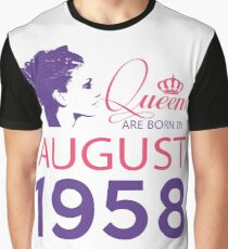 It's My Birthday 60. Made In August 1958. 1958 Gift Ideas. Graphic T-Shirt