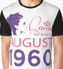 It's My Birthday 58. Made In August 1960. 1960 Gift Ideas. Graphic T-Shirt