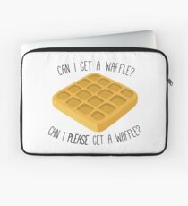 can i get a waffle? Laptop Sleeve