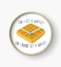 can i get a waffle? Clock