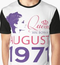 It's My Birthday 47. Made In August 1971. 1971 Gift Ideas. Graphic T-Shirt