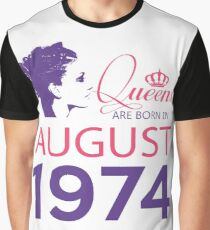 It's My Birthday 44. Made In August 1974. 1974 Gift Ideas. Graphic T-Shirt