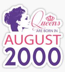 It's My Birthday 18. Made In August 2000. 2000 Gift Ideas. Sticker