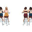 3 50's girls by Elza Fouche