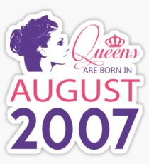 It's My Birthday 11. Made In August 2007. 2007 Gift Ideas. Sticker