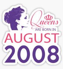 It's My Birthday 10. Made In August 2008. 2008 Gift Ideas. Sticker
