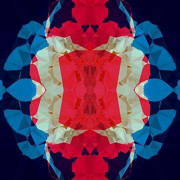 BLUE WHITE RED by EDDESIGNFORFUN