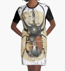 Scarab beetle, steam punk style, Bug Graphic T-Shirt Dress