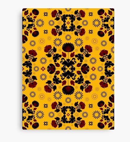 Fiesta Folk Yellow #redbubble #folk Canvas Print