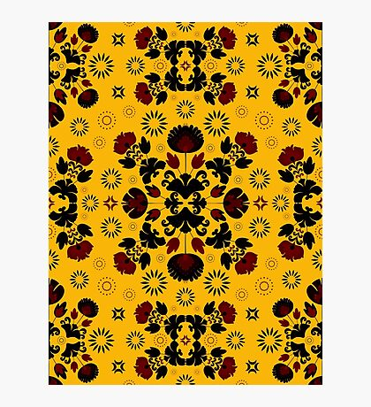 Fiesta Folk Yellow #redbubble #folk Photographic Print