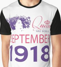 It's My Birthday 100. Made In September 1918. 1918 Gift Ideas. Graphic T-Shirt