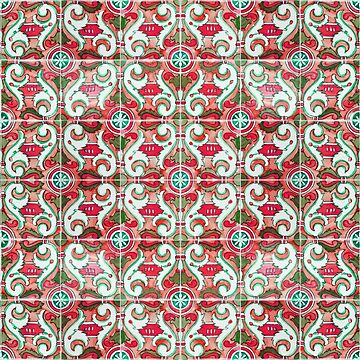 Seamless Floral Pattern Ornamental Design :  x29 - Red by ohaniki