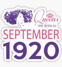 It's My Birthday 98. Made In September 1920. 1920 Gift Ideas. Sticker
