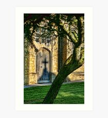 In The Shadow Of The Cross Art Print