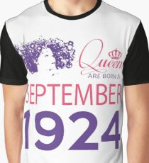 It's My Birthday 94. Made In September 1924. 1924 Gift Ideas. Graphic T-Shirt