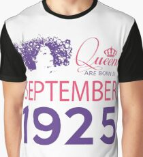 It's My Birthday 93. Made In September 1925. 1925 Gift Ideas. Graphic T-Shirt